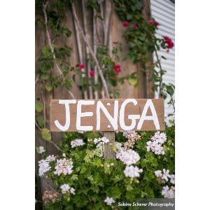 Jenga Stake Sign