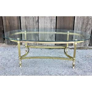 TRACY OVAL GOLD COFFEE TABLE