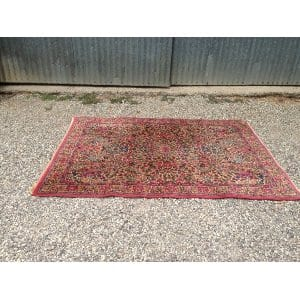 RIVE PINK AND BLUE ORIENTAL RUG