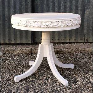 THEA ROUND WHITE COFFEE TABLE