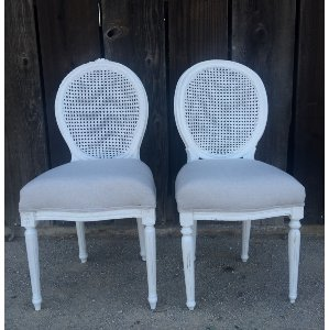 DORTHY CANE BACK SIDE CHAIRS