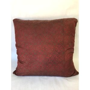 Red and bronze pillow