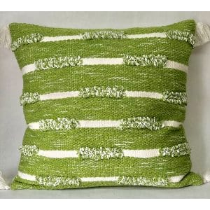 GREEN AND WHITE PILLOW