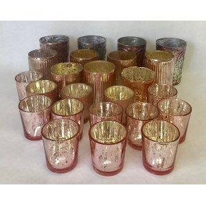assorted pink votive
