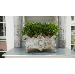 French style cast iron planter