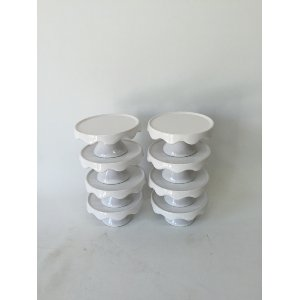 TINY WHITE CUPCAKE STANDS