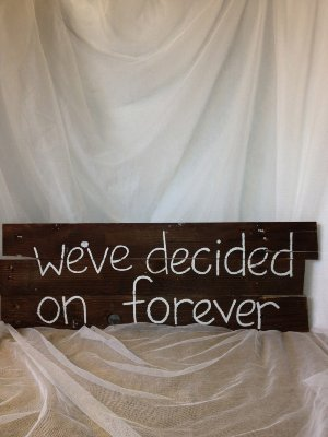 We've decided on Forever Sign