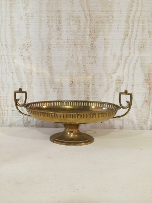 Brass Dish with Handles