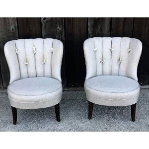 COLLEEN BEIGE UPHOLSTERED CHAIR