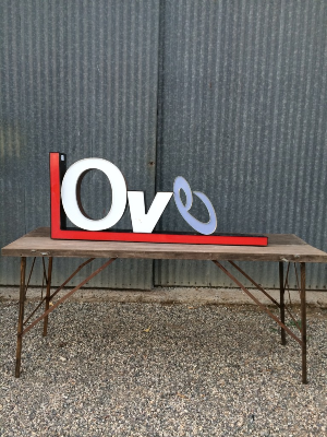 Love…..Large metal letters