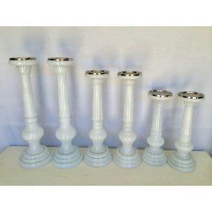 White Glass Candlestick