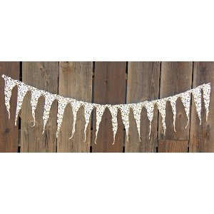 white fabric lace trim