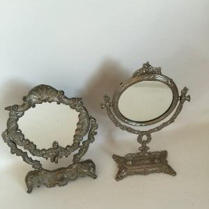 Silver mirror stands