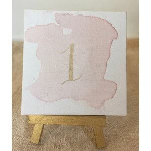 Blush and Gold Table Numbers (1-31)