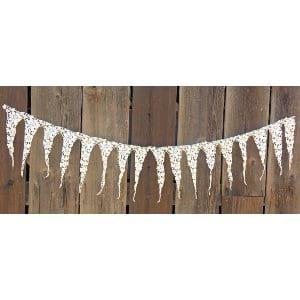 white fabric lace trim