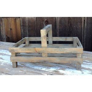 Wood trug tray with Handle