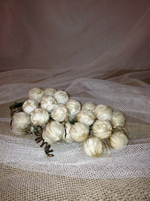 Vintage Silk Covered Grapes