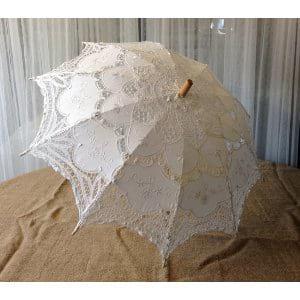 White Battenburg Umbrella