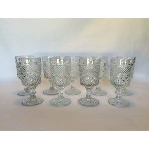 large diamond  glass goblets