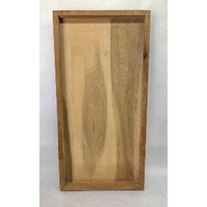 large flat wood tray
