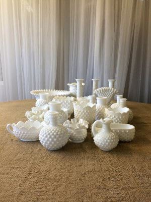 Hob Nail Milk Glass