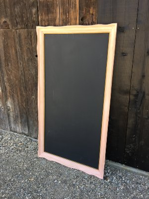Peach Menu Chalkboard