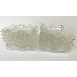 RUFFLED GLASS DESSERT BOWLS
