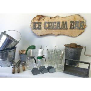 Ice Cream Bar Setup