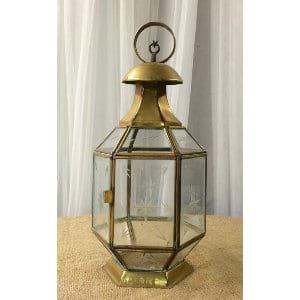 Lexi brass lantern