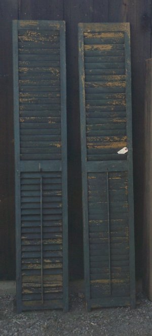 Tall Vintage Green Shutters
