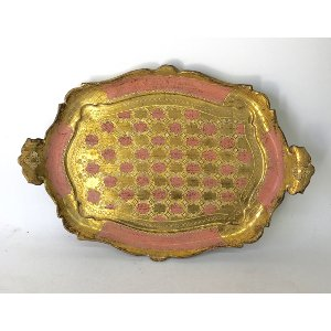 PADGETT PINK AND GOLD TRAY