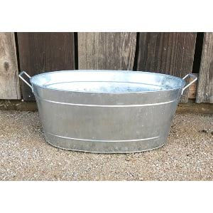 BERDINE LARGE OVAL GALVANIZED TUB
