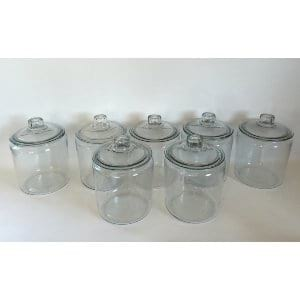 GLASS CANNISTER CONTAINERS