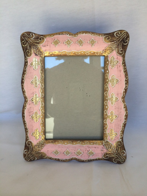 Gold and Pink Florentine Frame