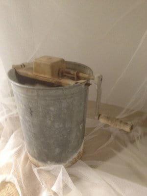 Zinc Ice Cream Bucket