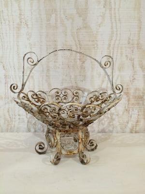 white Metal Basket