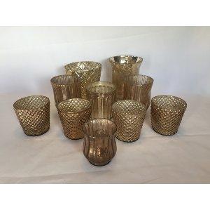 Medium Gold Mercury Glass Vases