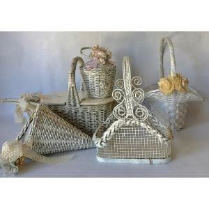 BLOSSOM VINTAGE FLOWER GIRL BASKET