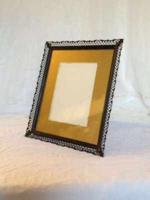 Black Frame with Gold Mat
