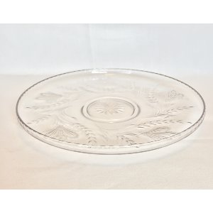 Glass Platter wheat pattern