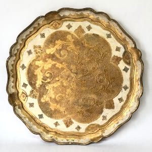 TANIA LARGE GOLD FLORENTINE TRAY