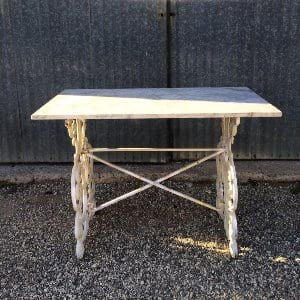 Cast Iron and Marble Table