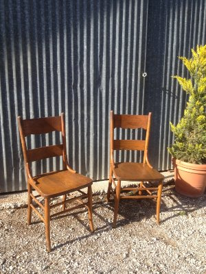 Morrison matching wood chairs
