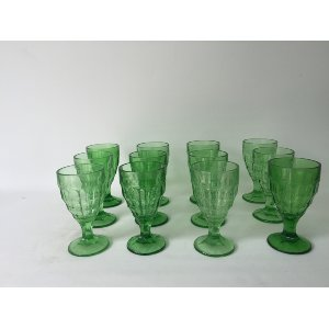 Small Light Green Goblets