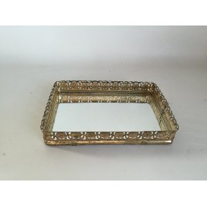 Small gold mirrored tray