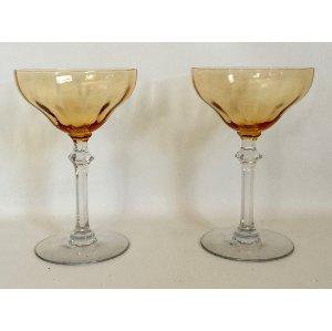 Amber toasting glasses