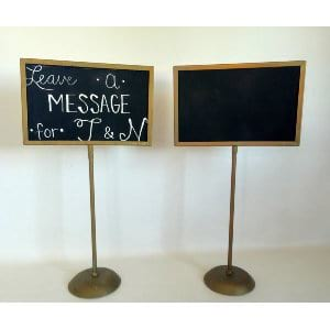 tall gold chalkboard stands