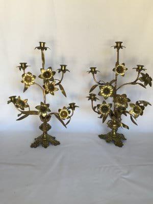 Fancy Brass Candelabra