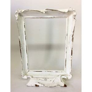 White frame on stand