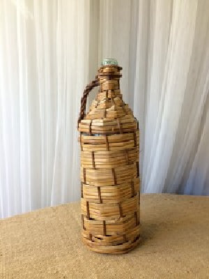 Woven Wicker Bottle